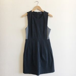 Madewell Black Stripes Insert Dress